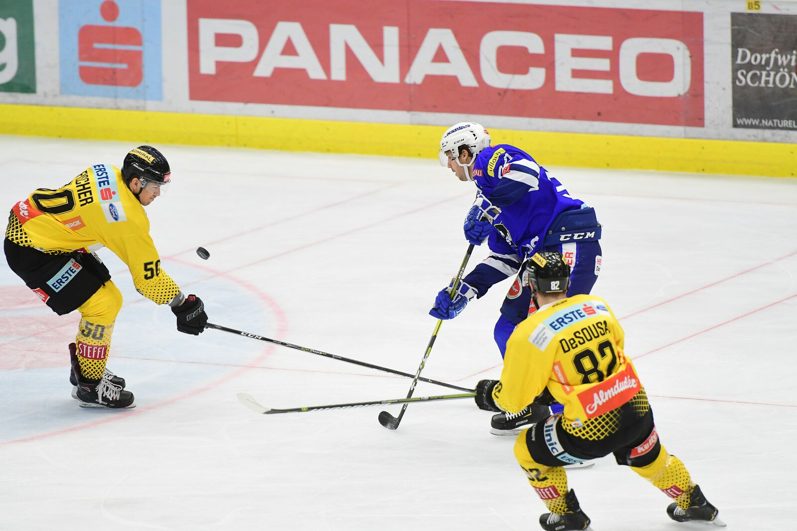 Bild von Der EC Panaceo VSV feiert einen 2:1 Erfolg gegen die Vienna Capitals