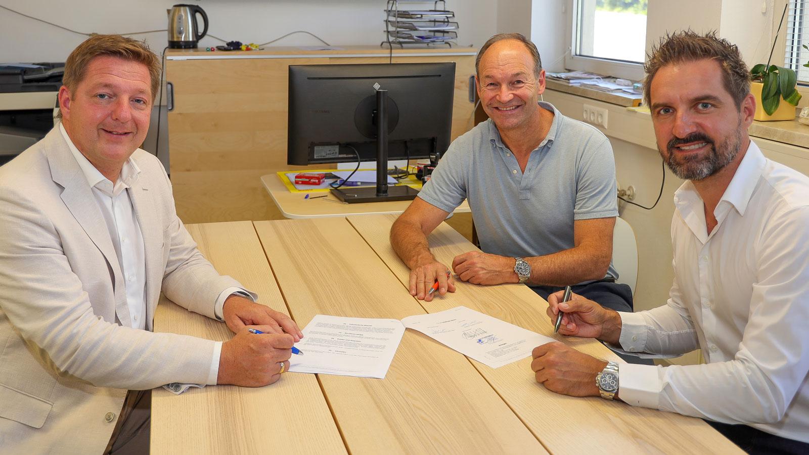 EC VSV Vertragsunterzeichnung BGM Günther Abel
